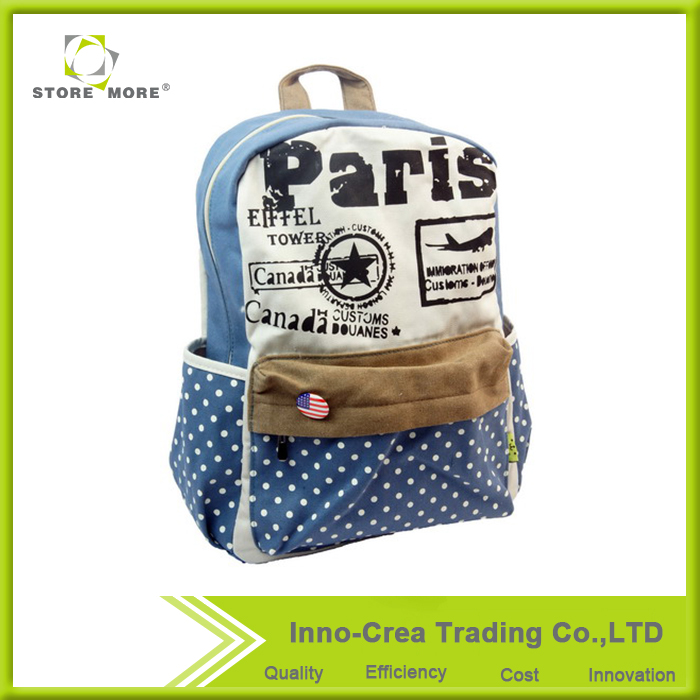 Store More OEM Fashion Design Casual Canvas bookbags backpack <strong>school</strong>