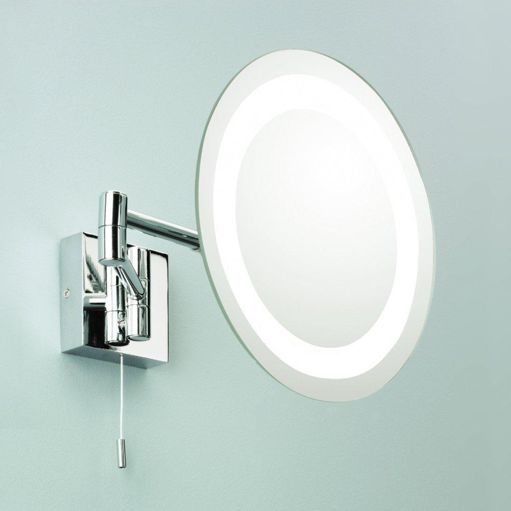 frameless wall mounting round led backlit vanity mirror