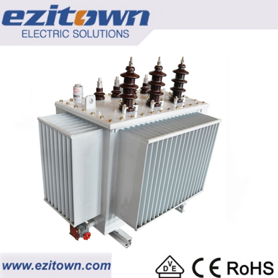 three phase 11kv 33kv oil immersed electric power high voltage transformer