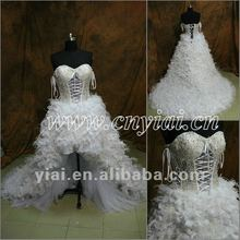 JJ2845 Newest Sweetheart Front Short and Back Long wedding dress