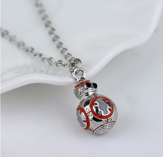 New Design BB8 Necklace Movie Star Jewelry Robot BB8 Fashion Pendant European Style Necklace For Women and Men