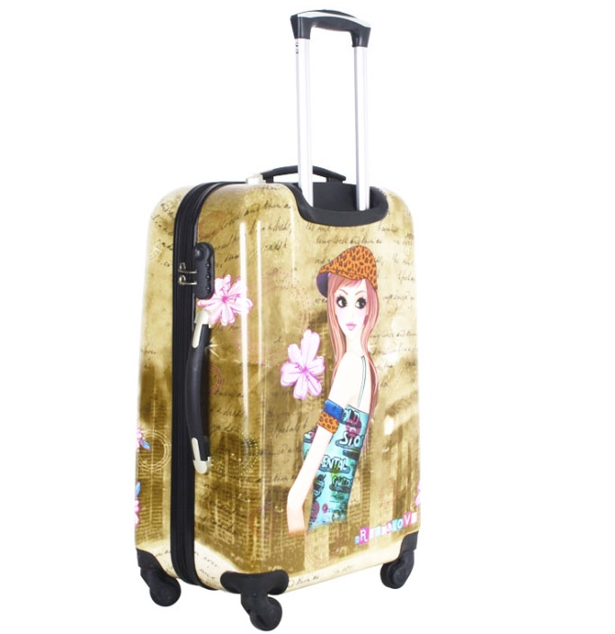 IATA certificated ABS PC luggage girls travel bags cabin size luggage
