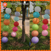 High quality Chinese round hanging paper lamp paper lantern for wedding party decorations