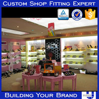 Adult women high heel shoe retail shop lighted shoe display design