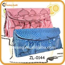 Fashion Clutch Bags with Snake Skin, japanned leather clutch