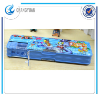 (CY6356) girls school bags frozen PVC plastic cartoon plastic pen case in guangdong
