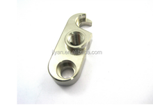 Customized high precision plating aluminum cnc hardware part with two holes