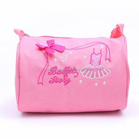 factory high quality satin ballet dance shoe bag