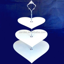 Sophisticated technology heart shape acrylic cake stand for wedding