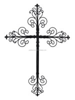 100% Handmade Large Metal Wall Christian Cross
