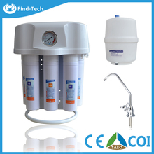 home house domestic use water treatment plant 6 stage water purifier PP +GAC+CTO+RO+Mineral filter +T33 , 3.2 gallon tank