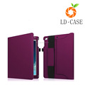 Durable PU leather wallet tablet case for i Pad