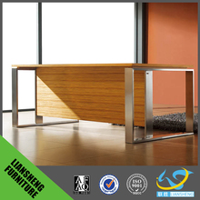 big wooden boss executive office tab with MDF table top