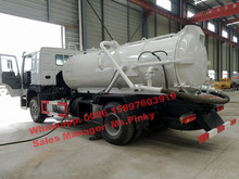 290HP howo spetic truck 4000L sewage tank with 2000L water tank with Vacuum Pump and High Pressure Cleaning Pump by factory sale