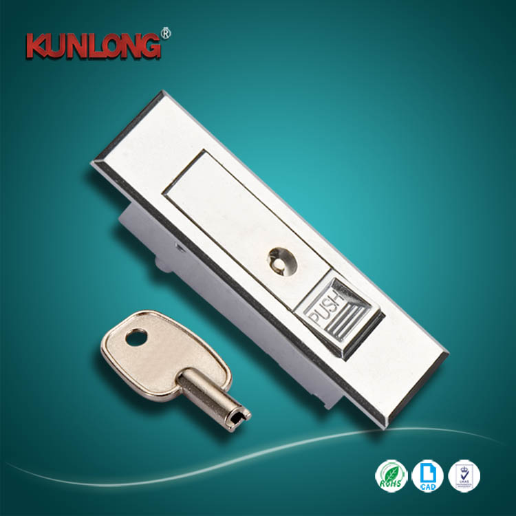 Mechanical Push Button And Auto Rotate Opening Electronic Key cabinet lock