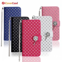 Cell Phone Accessories Bling Rhinestone Mobile Phone Diamond Case for Samsung Galaxy S7 edge G935 Etui Fundas Flip Wallet Cover