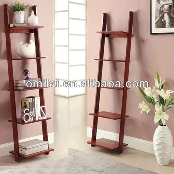 wall bookcase ladder