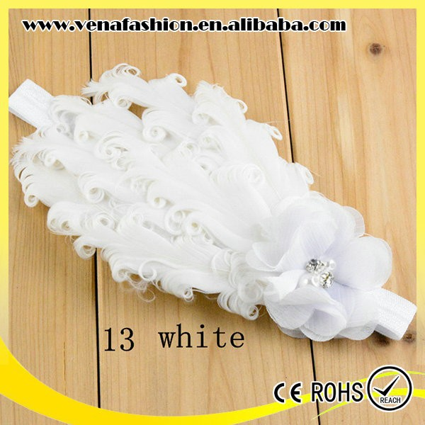1pc order support kids cheap baby feather headbands