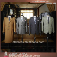 2015 Fashion custom tailored made bespoke mens designer suits and overcoat for men