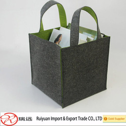 Alibaba express china book gathering felt storage tote bag with handle design