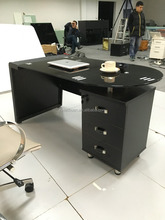 Glass modern Executive Table Glass office desk for project