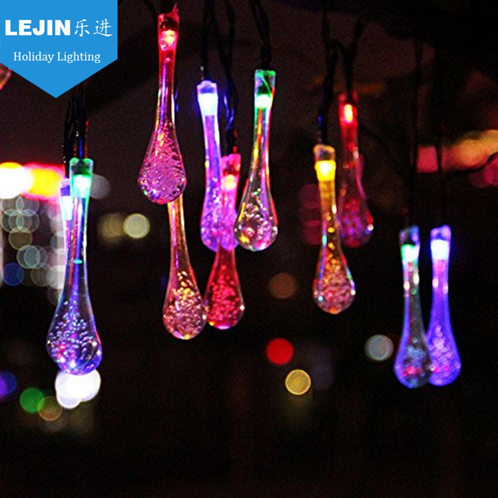 Led CE RoHS certificatie christmas solar panel meteor rain light with 10pcs
