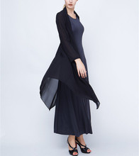 Black bright silk small sweet wind thin cloth coat