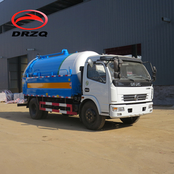 Dongfeng 7m3 4x2 Vacuum Sewage Suction Sewer Scavenger Tankers Truck