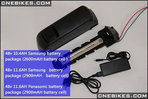 US 36V 14.5Ah Black E-bike electrical dolphin battery pack with charger