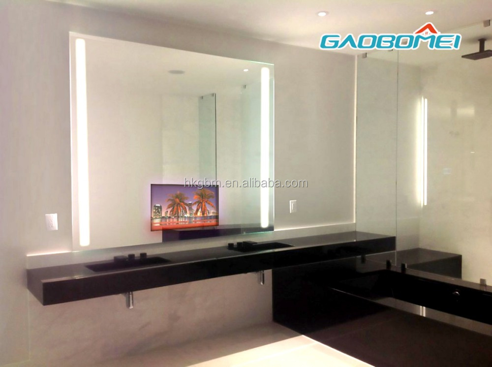 "Gaobomei 55"" inch advertising mirror player media touch screen electric bath mirror with wifi"