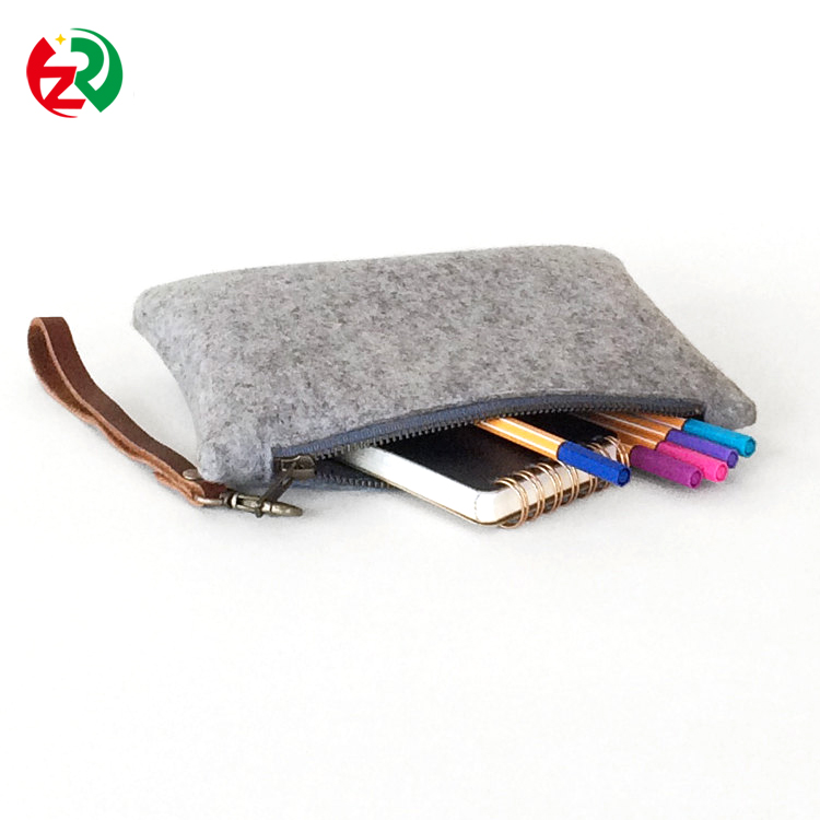 Make to order hot selling customized phone bags high quality cheap felt cell phone cover