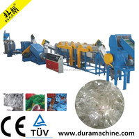 2018 Advanced High Quality 500kg per hour PP PE Film Washing Machine Plastic Film Recycle Production Line