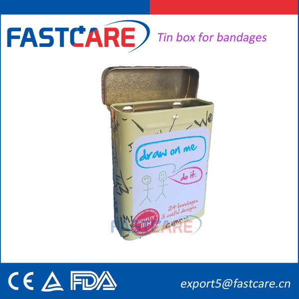 Printed Adhesive band aid tin box