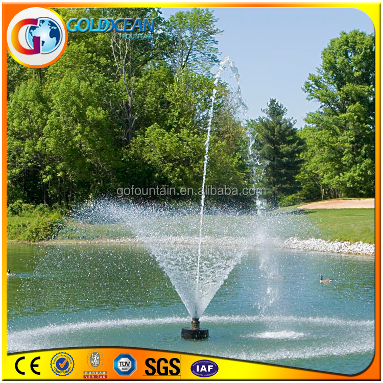 Modern wholesale rotating ball golf course fountain with led