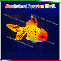fluorescent vivid floating goldfish, aquarium accessories for fish tank