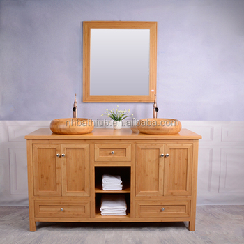 Bathroom furniture natural bamboo cabinets/vanities