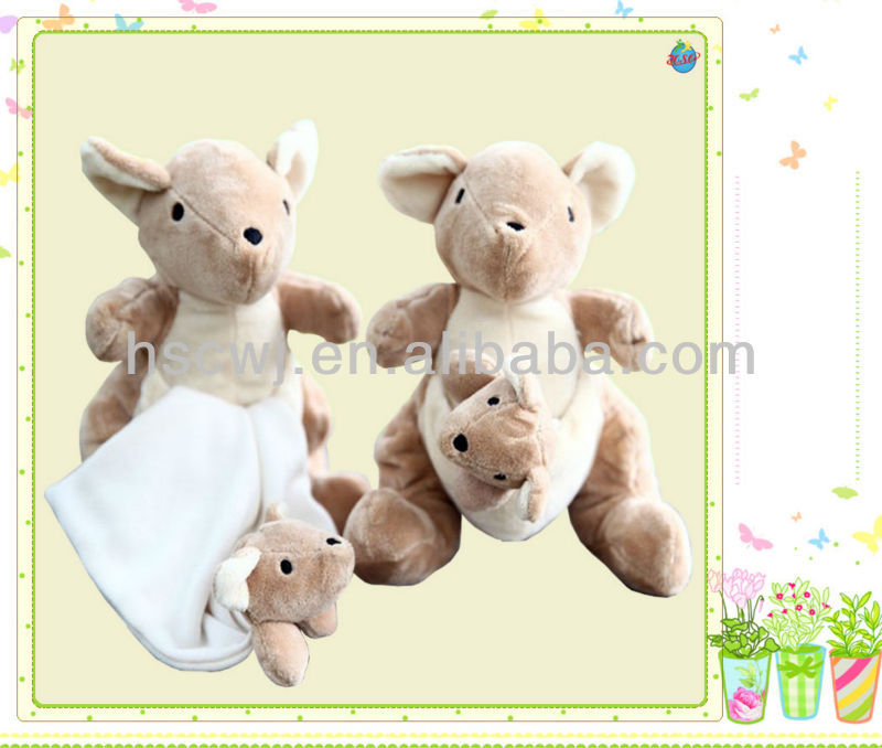 cuddly mother and son kangaroo family stuffed toys