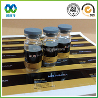 Custom printed 10ml hologram pharmaceutical vial labels for testosterone enanthate