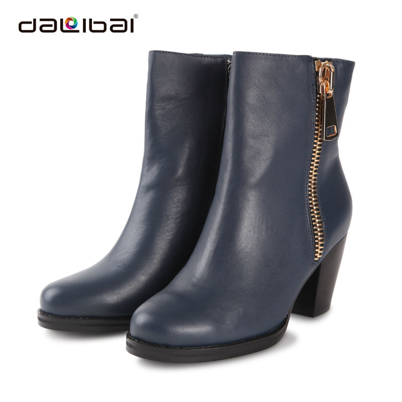 navy blue mature rubber transparent rain boots women