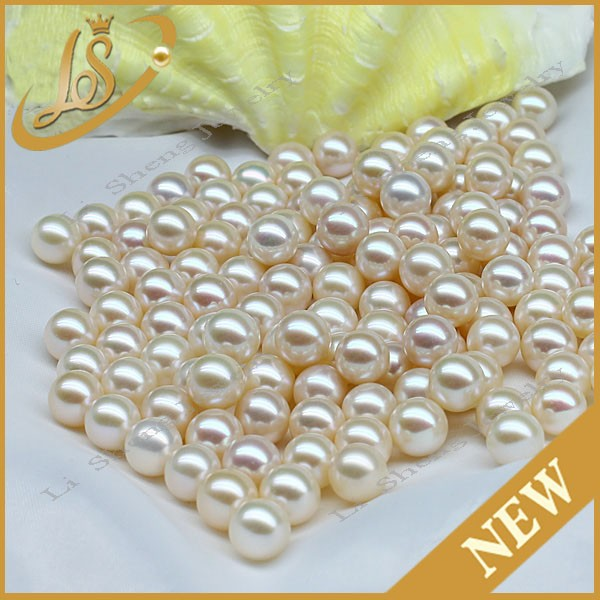 Factory loose 3.0mm round shiny natural white pearl