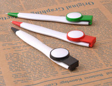 Novelty design short ballpoint pen with flag clip