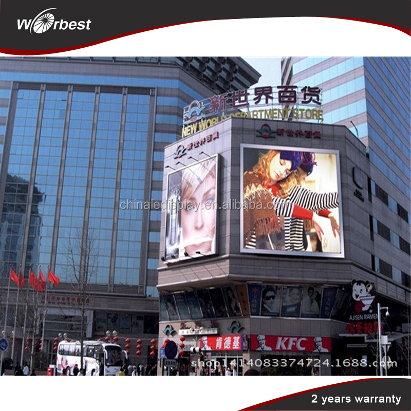 Outdoor led billboards for sale window advertising p10 led digit display signs