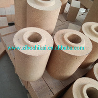 High temperature heat resistant fireproof baked firebrick refractory sleeve brick for teeming ladle