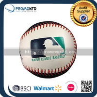 PVC leather cover baseball with pattern fabric baseballs