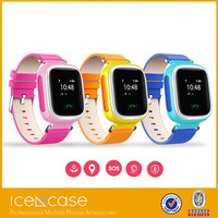 Kids Smart Mobile Phone Watch GPS Location Tracking SOS Button Alarm, 2G Phone Call Children Wearable Smart Watch for Anti Lost