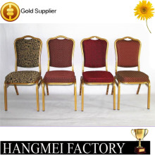 Wholesale Steel Iron Banquet Chair Stackable Aluminum Dining Chair For Wedding HM-S89