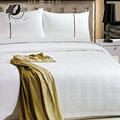 Customized Size White Sateen 100% Cotton Hotel Linen Bedding