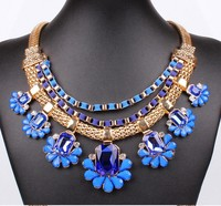 European Style Luxury Fashion Multicolor Collar Vintage Statement Necklace Women Fashion Necklaces for Women 2014