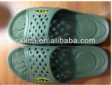 PVC Olive Green Military Slippers