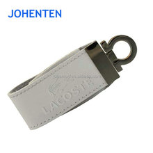 promotional bulk factory direct selling usb flash drive 2gb Brand Custom Leather Can be printed logo